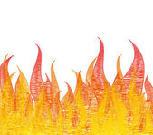 Scribble fire on white. Vector — Stock Vector