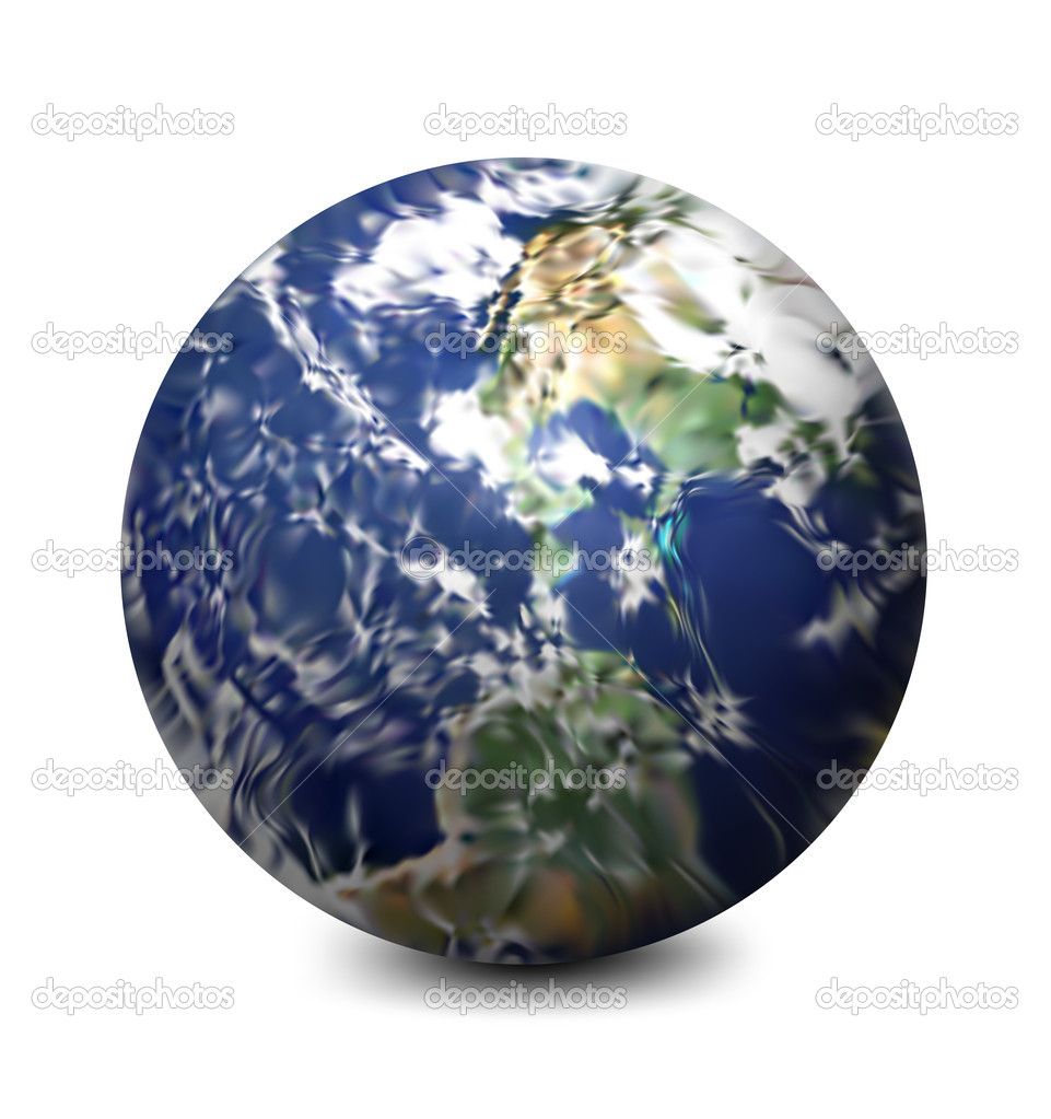 Earth isolated in white background. Vector illustration — Stock Vector #6500951