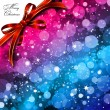Magic Lights background with bow. Vector - Stock Vector