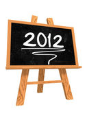 2012 on blackboard — Stock Photo
