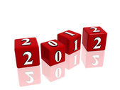 Red cubes 2012 — Stock Photo