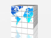 White world in cubes — Stock Photo