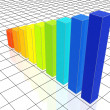 Colour 3d chart — Stock Photo