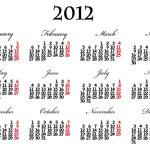 Calendar 2012 — Stock Vector #6630056