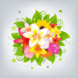 Stock Vector: Flower Background