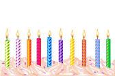 Birthday Candles — Stock Vector