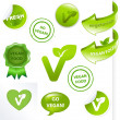 Vegan Elements Set - Stock Vector