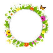 Cercle de fleurs — Vecteur