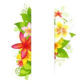 Přírodní pozadí s květinou — Stock vektor