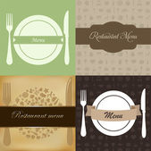 Restaurant Menu Set — Stock Vector