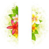 花と自然な背景 — ストックベクタ