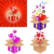 Set Gift Box — Stock Vector #5702785
