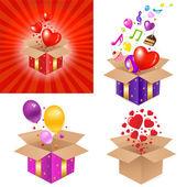 Set Gift Box — Stock Vector