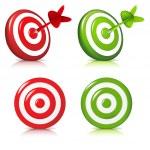 Set Target — Stock Vector