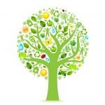 Eco Tree — Stock Vector