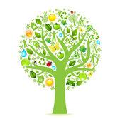 Eco arbre — Vecteur