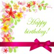 Birthday Card - Image vectorielle