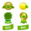 Eco Friendly Set - Stock Vector