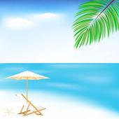 Zee en strand — Stockvector