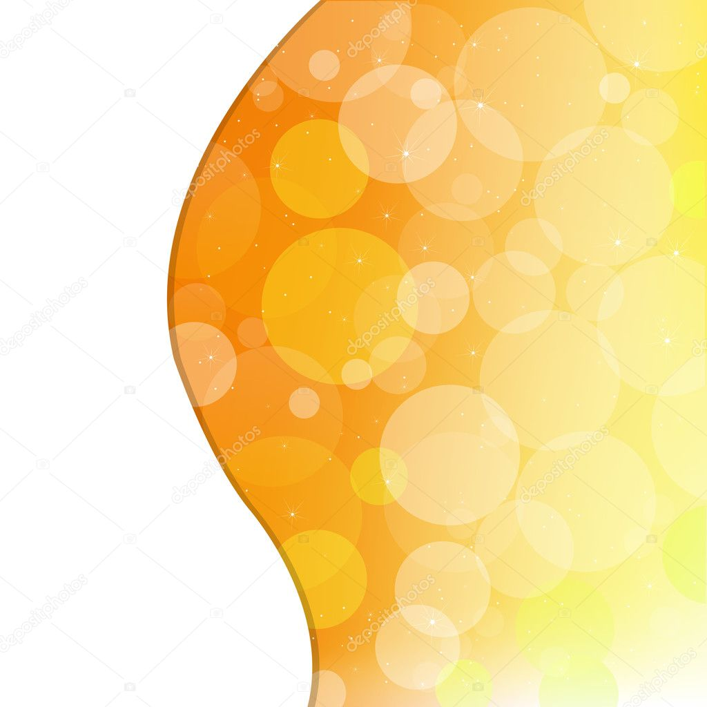 Abstract Orange Background, Vector Illustration  Stock Vector #6280205