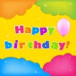 Card Happy Birthday - Image vectorielle