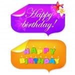 Sticker Happy Birthday — Stock Vector
