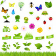 Eco Set With Nature Icons — Stock Vector