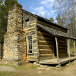 Cades Cove - John Oliver Cabin 3 - Stock Photo
