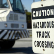 Stock Photo: Hazardous Truck Crossing