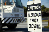 Hazardous Truck Crossing — Stock Photo