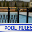 Swimming Pool Rules — Stock Photo