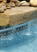 Swimming Pool Water Feature — Stock Photo