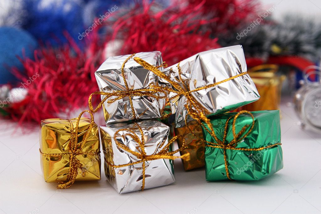 Gifts for Christmas and new year  Stock Photo #6380768