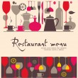 Vector. Restaurant menu design — Stock Vector