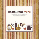 Vector. design do menu de restaurante — Vetor de Stock