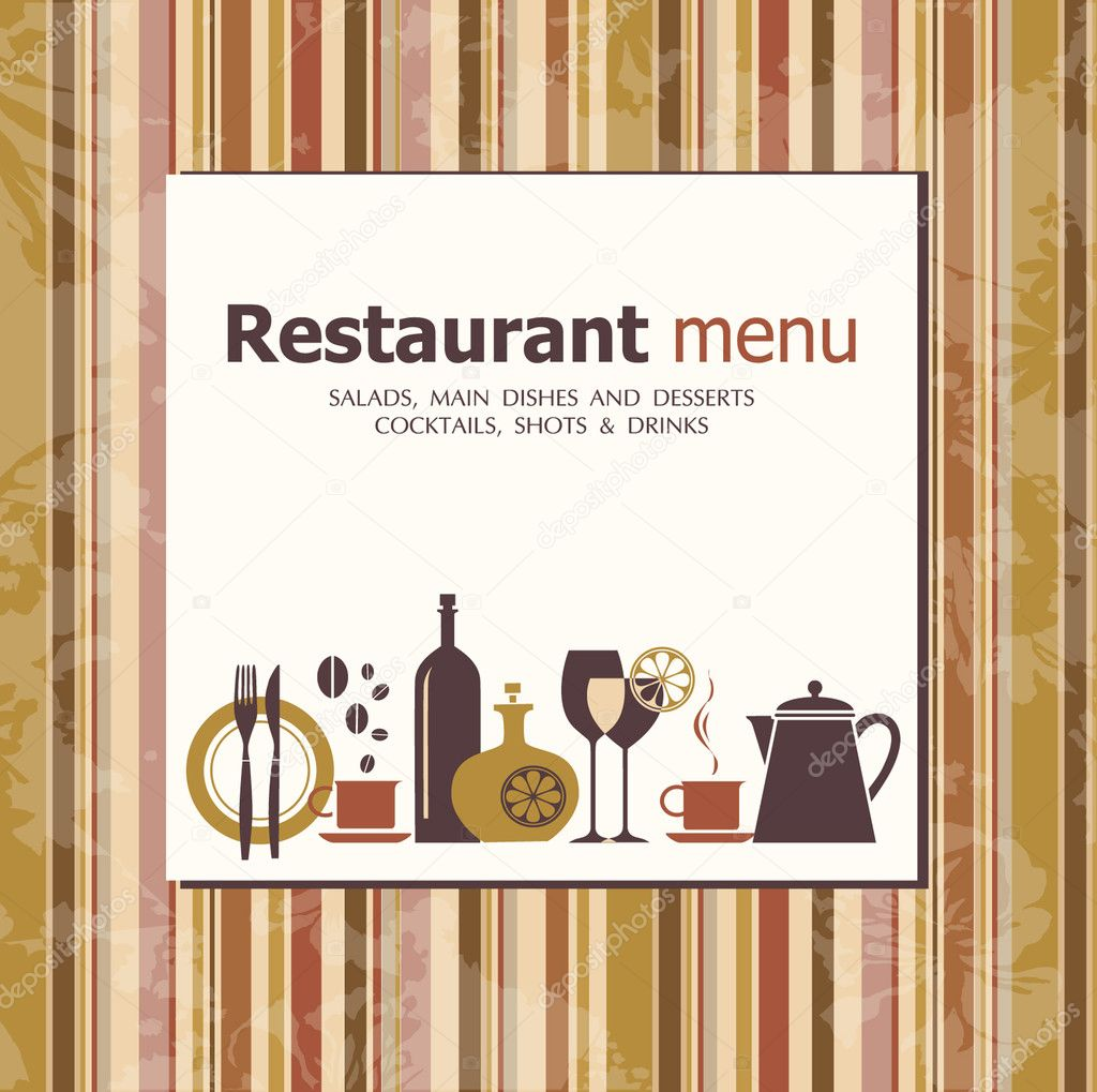 Vector. Restaurant menu design   Stock Vector #6224333