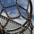 Outdoor basketball basket — Stock Photo #6063214