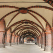 "On the famous berlin ""oberbaum"" bridge — Stock Photo"
