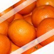 Oranges with white stripes — Stock Photo