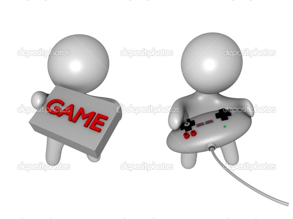 Gaming guys 3d — Stock Photo #6118051