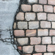 Stock Photo: Brick street texture