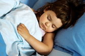 Little Girl Asleep — Stock Photo