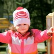 Little Girl Exploring Playground — Stock Photo #5450969
