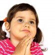 Little Girl Praying or Making a Wish — Stock Photo