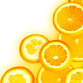 Orange Slices Border — Stock Photo