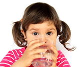 Little Girl Drinking Water — Stock Photo
