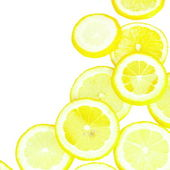 Lemon Slices Border — Stock Photo