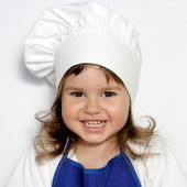Little Cute Girl in Cook's Cap Portrait — Stock Photo
