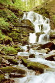 Mountain River Waterfall Vertical — Stock Photo