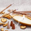 Aroma Set with Smoking Sticks — Stock Photo #6696254